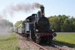 Steam engine powered train Royalty Free Stock Image