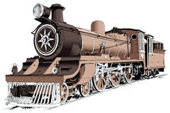 Free Steam Engine Powered Train Royalty Free Stock Image - 5794356