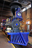 Steam engine. Replica steam engine in shed Royalty Free Stock Image