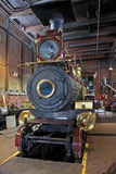 Steam engine. Replica steam engine in engine shed Royalty Free Stock Photos
