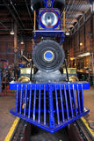 Steam engine. Replica steam engine in an engine shed Royalty Free Stock Photography