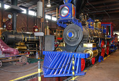 Steam engine. Replica steam engine in an engine shed Stock Image
