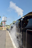 Steam engine on restored Swanage Railway Stock Images
