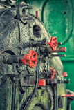 Steam engine's control valves Royalty Free Stock Photo