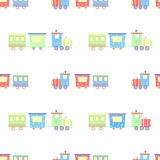 Steam engine seamless pattern Stock Images