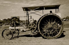 Steam engine at a Steam Threshers Reunion(black and white) Royalty Free Stock Photo