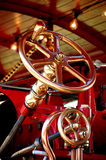 Steam engine steering wheel Royalty Free Stock Photos