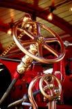 Steam engine steering wheel. Steam traction engine steering wheel Royalty Free Stock Photos