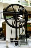 Steam engine in the technical museum of Vienne. Impressive steam engine in the technical museum of Vienne. Old engine royalty free stock photos