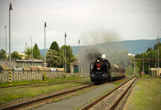 Steam engine train Stock Images