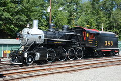 Steam Engine. At train depot in Whippany, NJ Stock Image