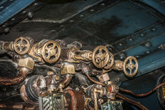 Steam Engine Valves Stock Photography