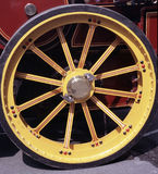 Steam engine wheel Royalty Free Stock Images
