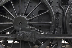 Steam engine wheel Royalty Free Stock Photo