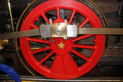 Steam engine wheel Stock Photo