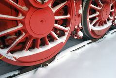 Steam engine wheels Stock Photo