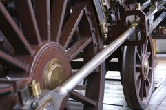 Steam engine wheels Royalty Free Stock Photography