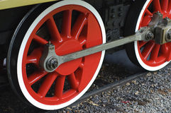 Steam engine wheels Royalty Free Stock Photos