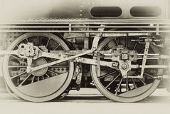 Steam engine wheels Stock Photos