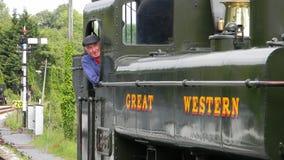Steam Train Engineer Royalty Free Stock Photo