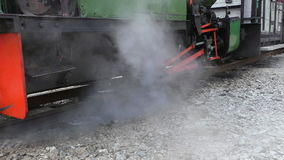 Steam escaping from locomotive engine stock footage