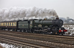 Steam express in the snow Stock Images
