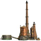 Steam factory Stock Images