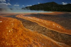 Steam of the Grand Prismatic Stock Images
