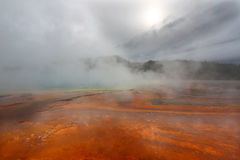 Steam from Grand Prismatic Spring Royalty Free Stock Photo