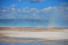 Steam from Grand Prismatic Spring Stock Image