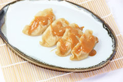 Steam Gyoza isolated Royalty Free Stock Photography