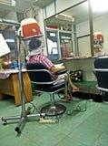 Steam hair in a salon Stock Photography