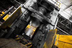 Steam hammer. Before a usage in a forging workshop Stock Images