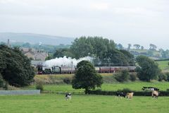 Steam hauled Lakes Express. Oubeck near Lancaster Stock Photo