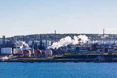 Steam from Heavy Industry Royalty Free Stock Photo