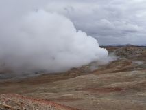 Hot spot in iceland royalty free stock photography