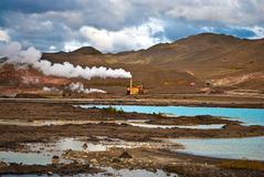 Steam industry in Iceland Royalty Free Stock Photography
