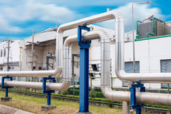 Steam insulation and loop pipeline, Steam pipe.supply Stock Photos