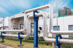 Steam insulation and loop pipeline, Steam pipe.supply Stock Photo