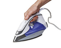 Steam iron - clipping path Royalty Free Stock Image
