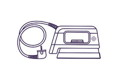 Steam iron isolated vector icon Royalty Free Stock Photo