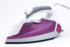 Steam iron isolated Royalty Free Stock Images