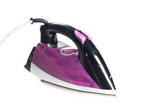 Steam iron isolated on white background Royalty Free Stock Images