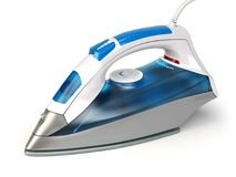 Steam iron isolated on white background. Royalty Free Stock Image