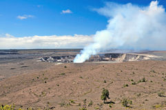 Steam from the Kilauea Crater Stock Images
