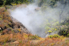 Steam from the Kilauea Crater Stock Photo