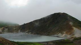 Steam lake in the Golovnina volcano, Kunashir Kurily, Russia Stock Photography