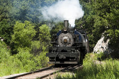 Steam Locomotive. An 1880 steam engine in use as a tourist attraction by the Black Hills Central Railroad in South Dakota. This engine was manufactured by the Royalty Free Stock Photography