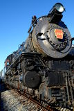 Steam Locomotive. A Pennsylvania steam locomotive parked at a museum royalty free stock photo