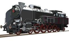 Steam locomotive stock illustration